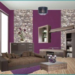 Dekoideen Wohnzimmer Lila