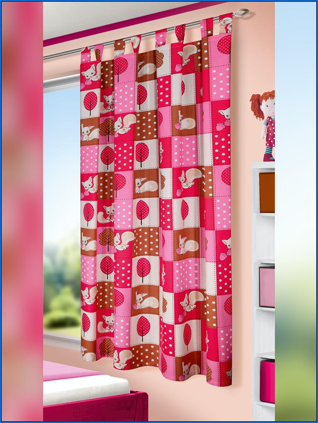 Kinderzimmer Gardinen Mädchen Pink