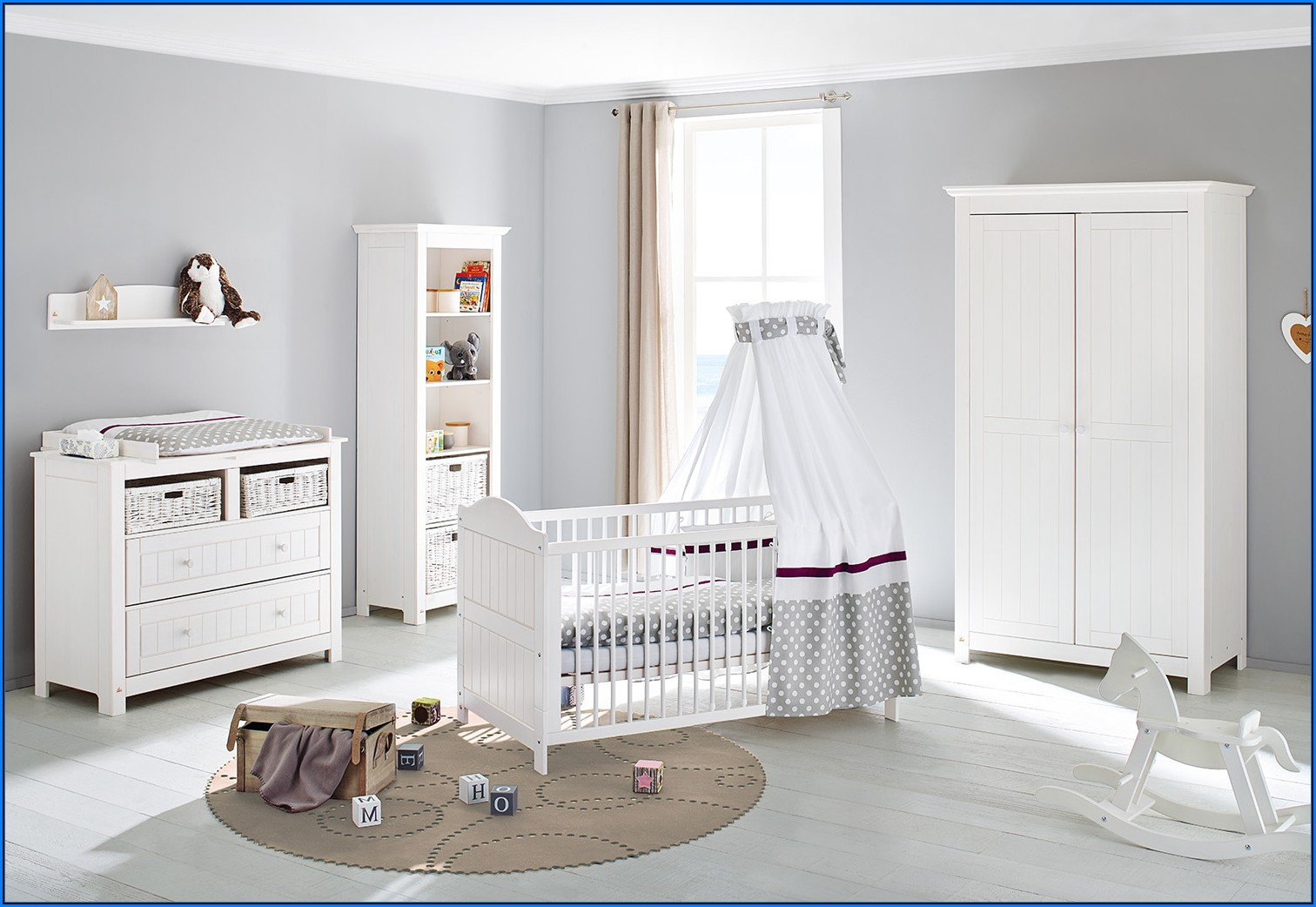 Pinolino 3 Tlg. Babyzimmer Florentina Extrabreit Groß