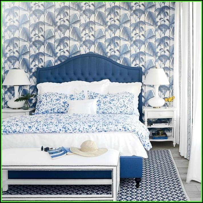Schlafzimmer Ideen Blau Weiß