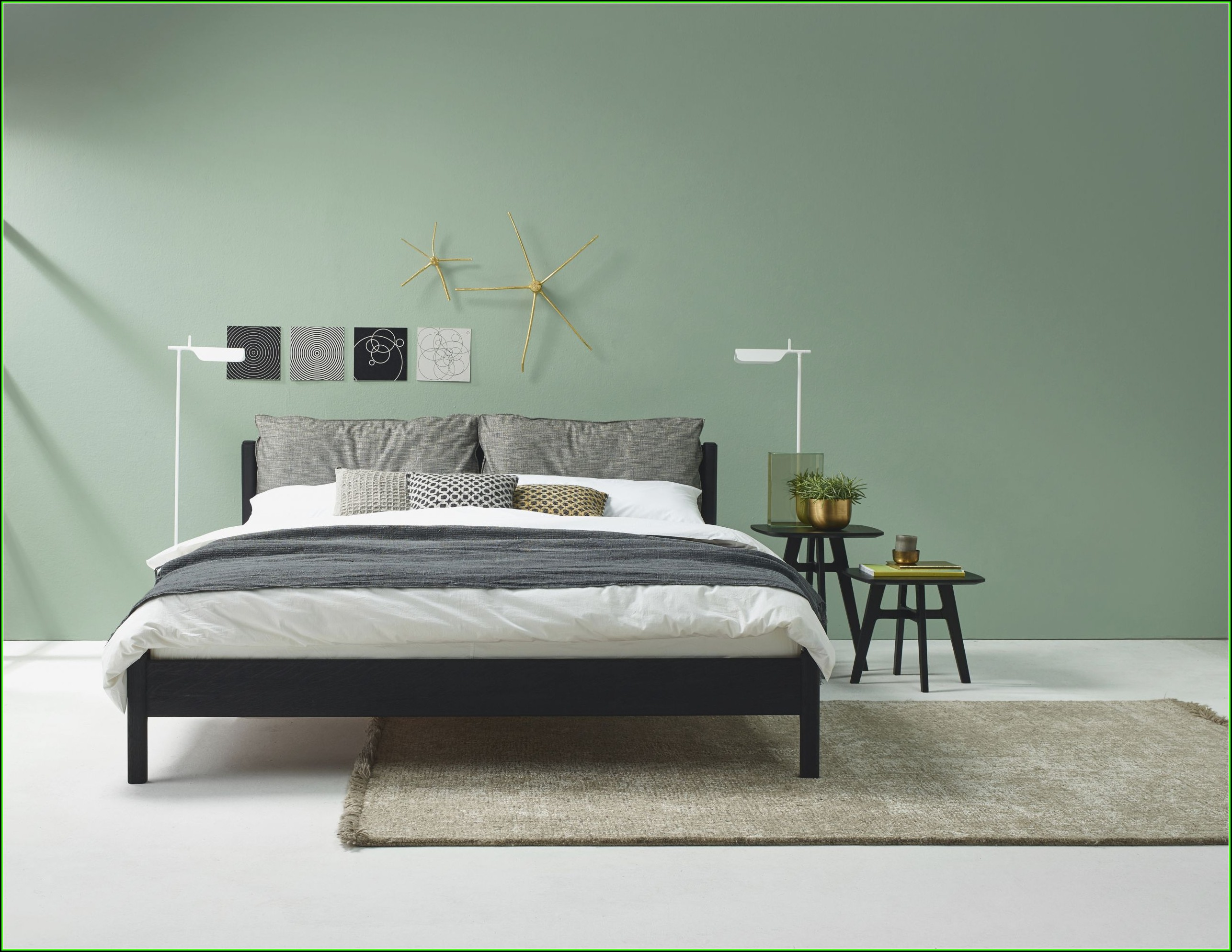 Schlafzimmer Ideen Grau Grün