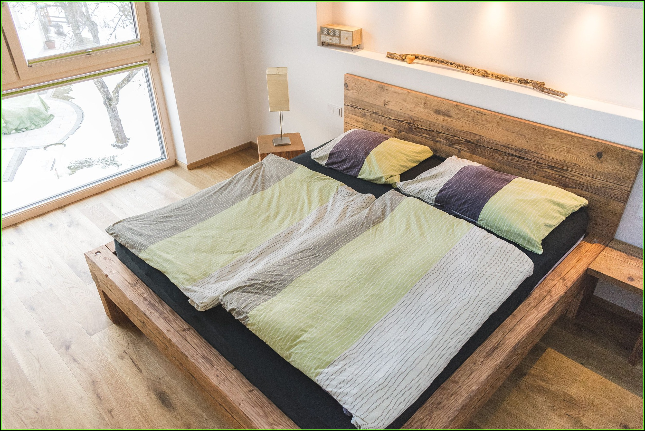 Schlafzimmer Ideen Holzbett