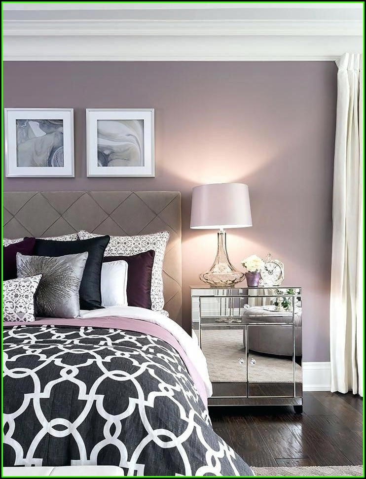 Schlafzimmer Ideen Wandgestaltung Lila