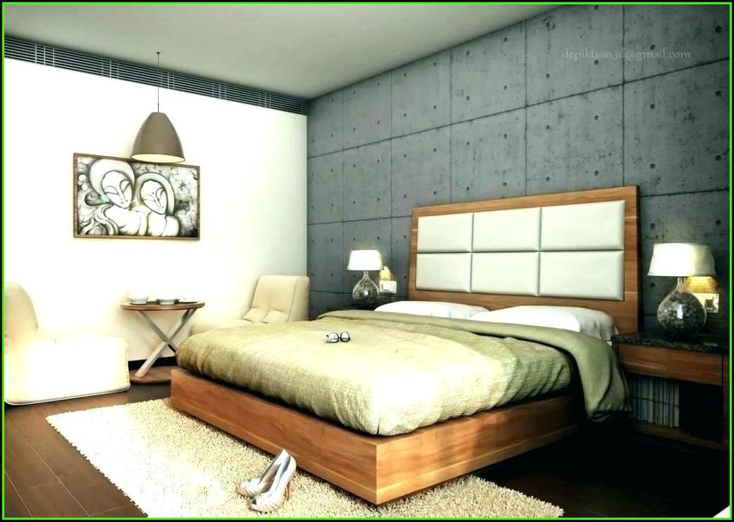 Schlafzimmer Ideen Wandgestaltung Stein