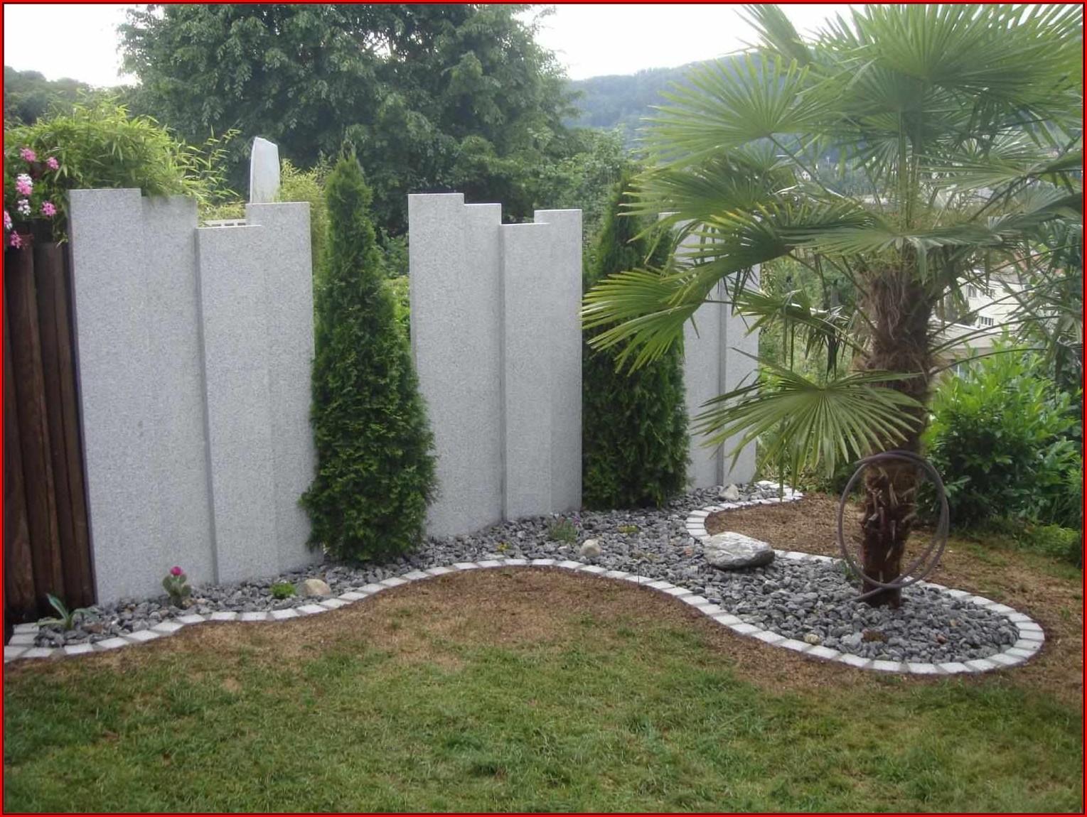 Sichtschutz Terrasse Ideen Aus Stein
