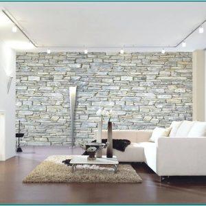 Steinwand Wohnzimmer Ideen Grau