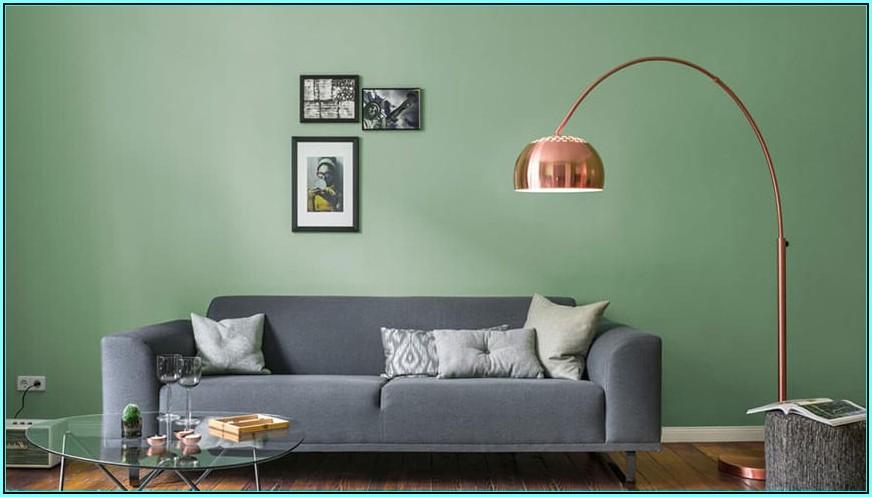 Wandfarben Ideen Wohnzimmer Grün