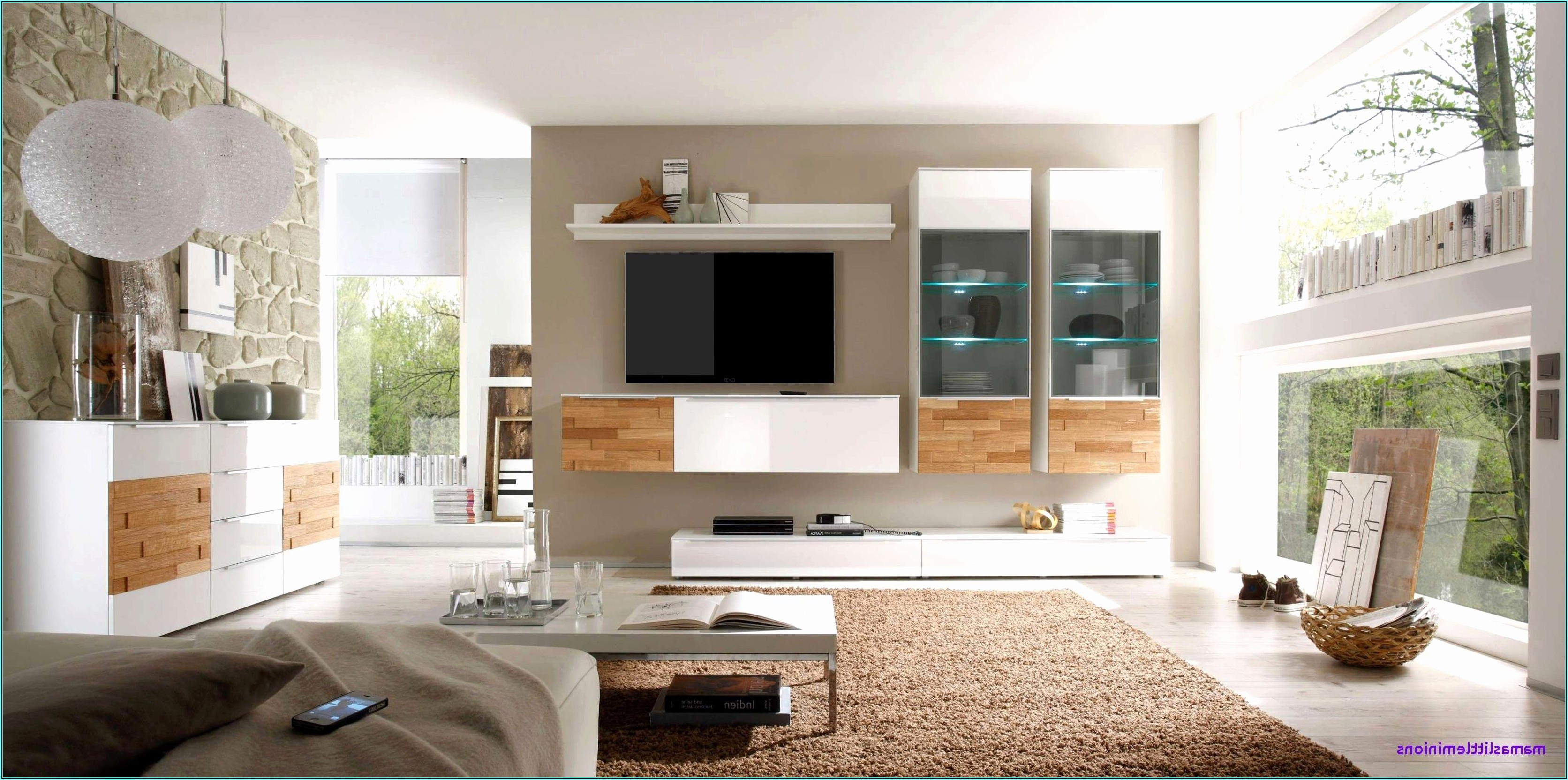 Wandfarben Ideen Wohnzimmer Streifen