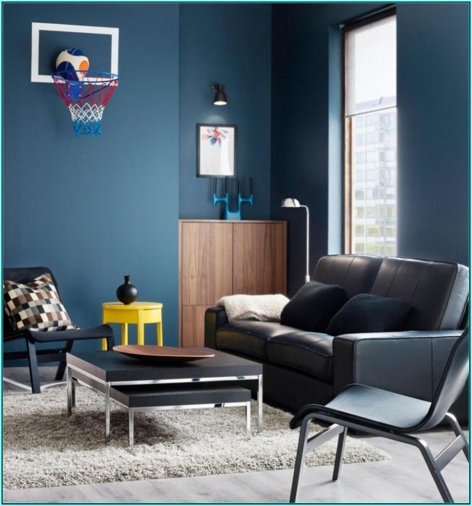 Wohnzimmer Ideen Blau
