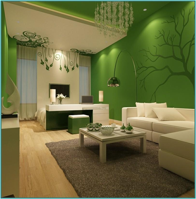 Wohnzimmer Ideen Braun Grün