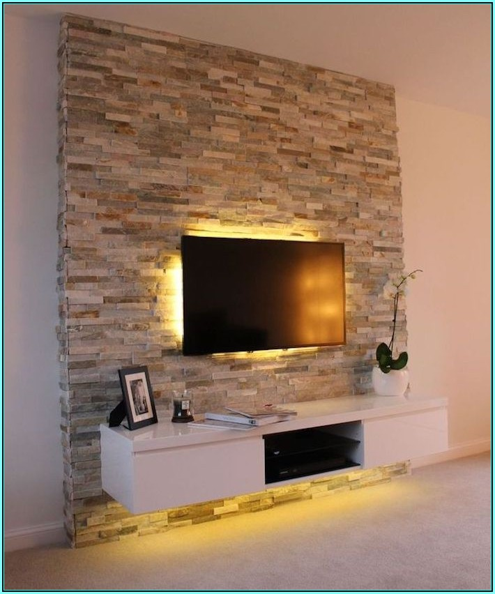 Wohnzimmer Ideen Fernsehwand