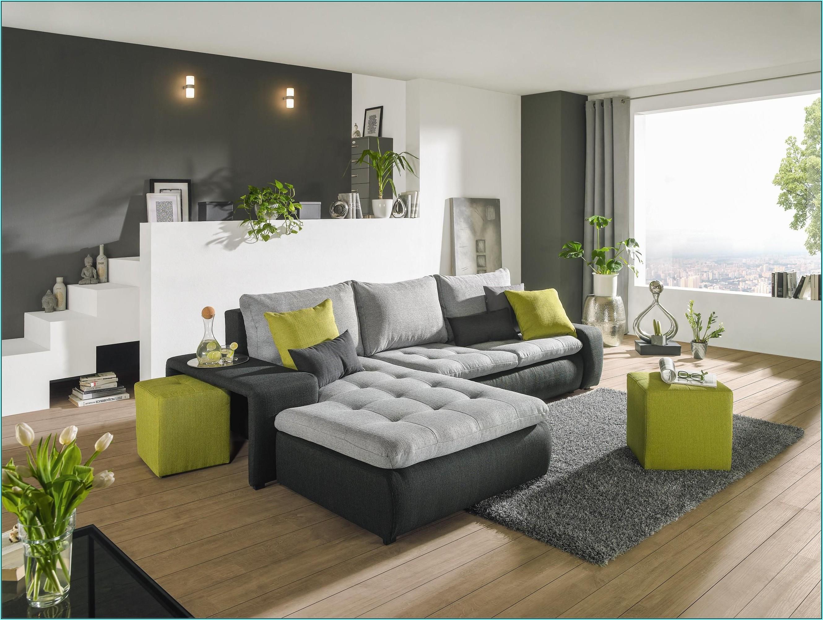 Wohnzimmer Ideen Grün Grau