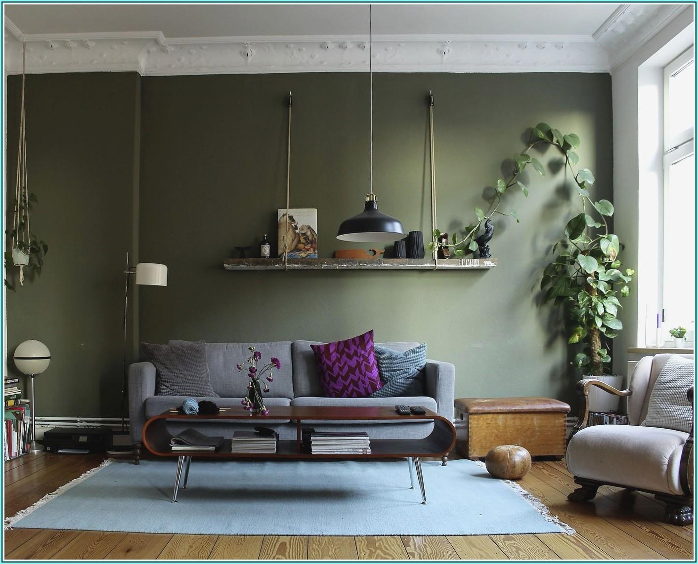 Wohnzimmer Ideen Grau Grün