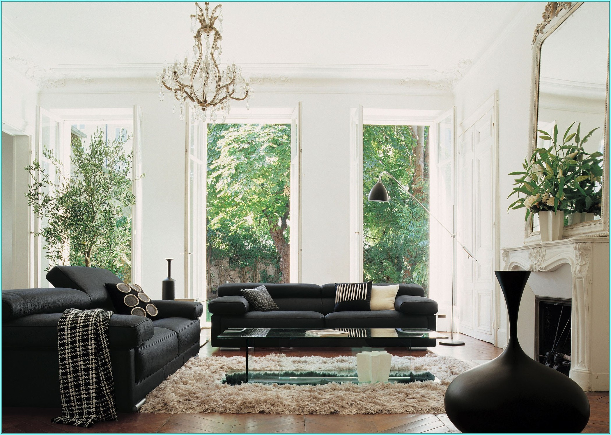Wohnzimmer Ideen Mit Schwarzer Couch