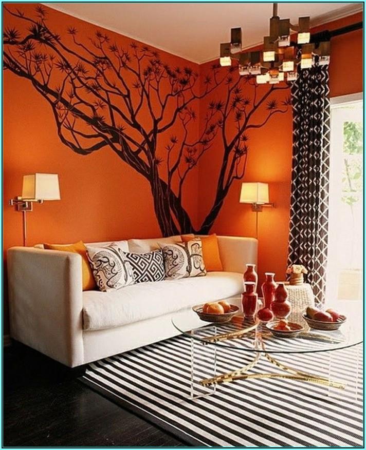 Wohnzimmer Ideen Orange