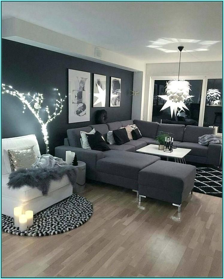 Wohnzimmer Ideen Schwarz