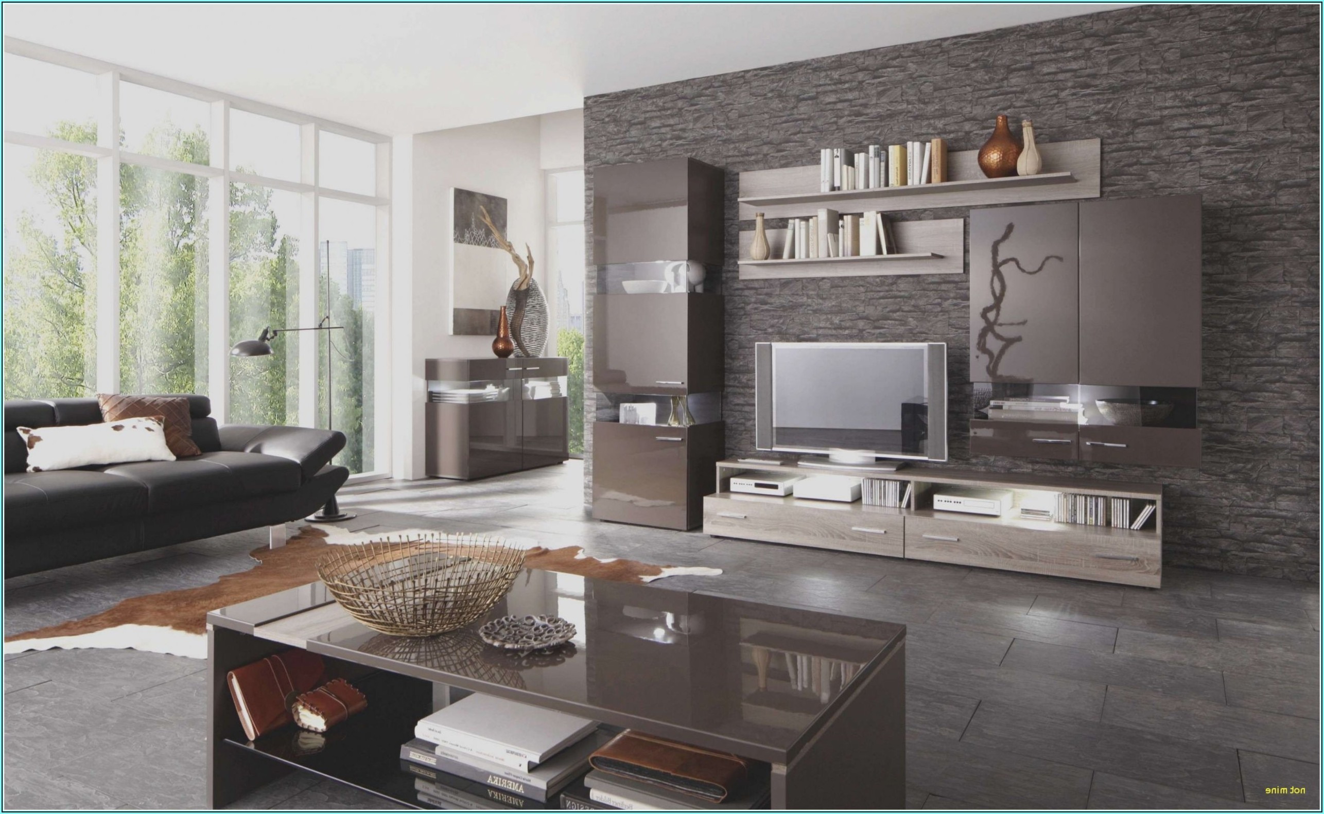 Wohnzimmer Ideen Schwarze Möbel