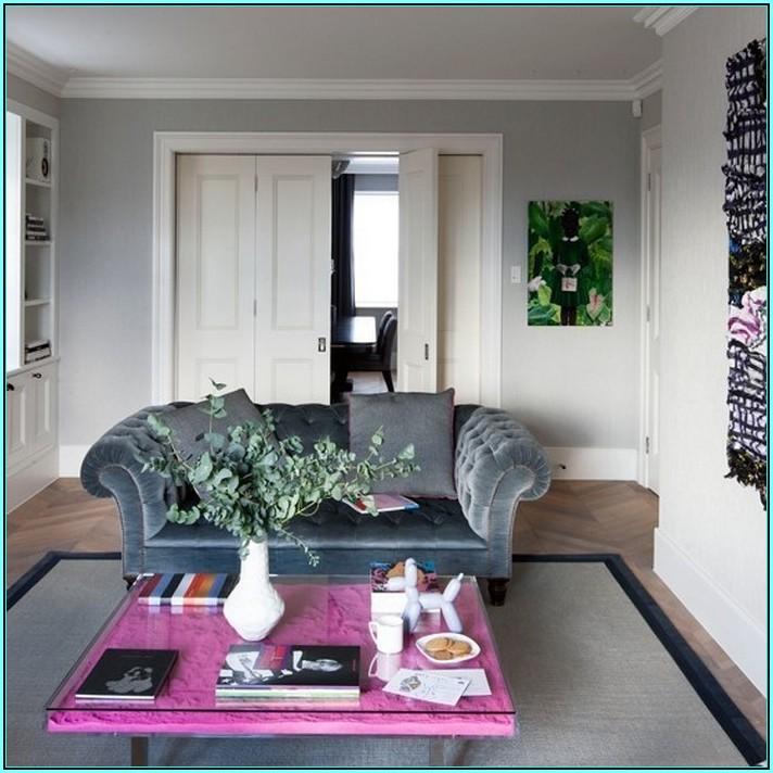 Wohnzimmerwand Ideen Grau