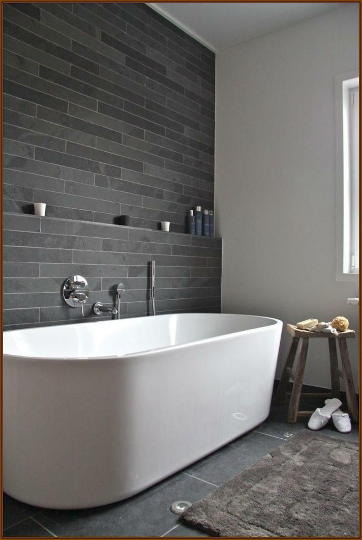 Badezimmer Ideen Grau Weiß