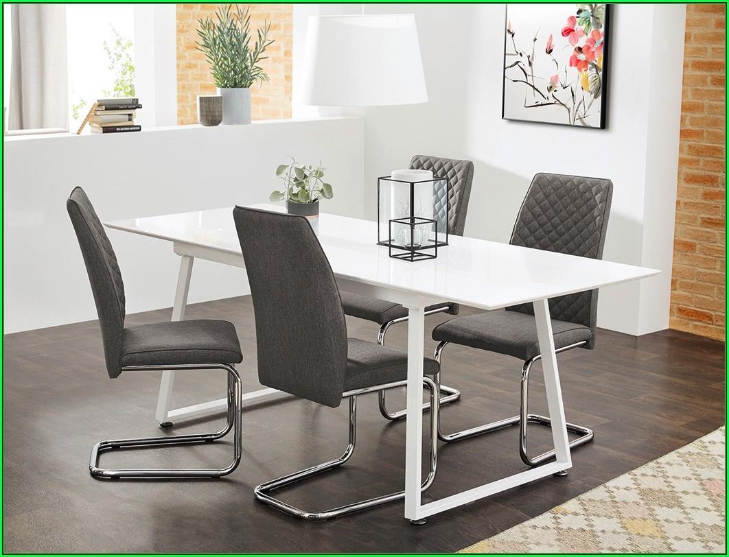 Esszimmerstühle Grau Weiß