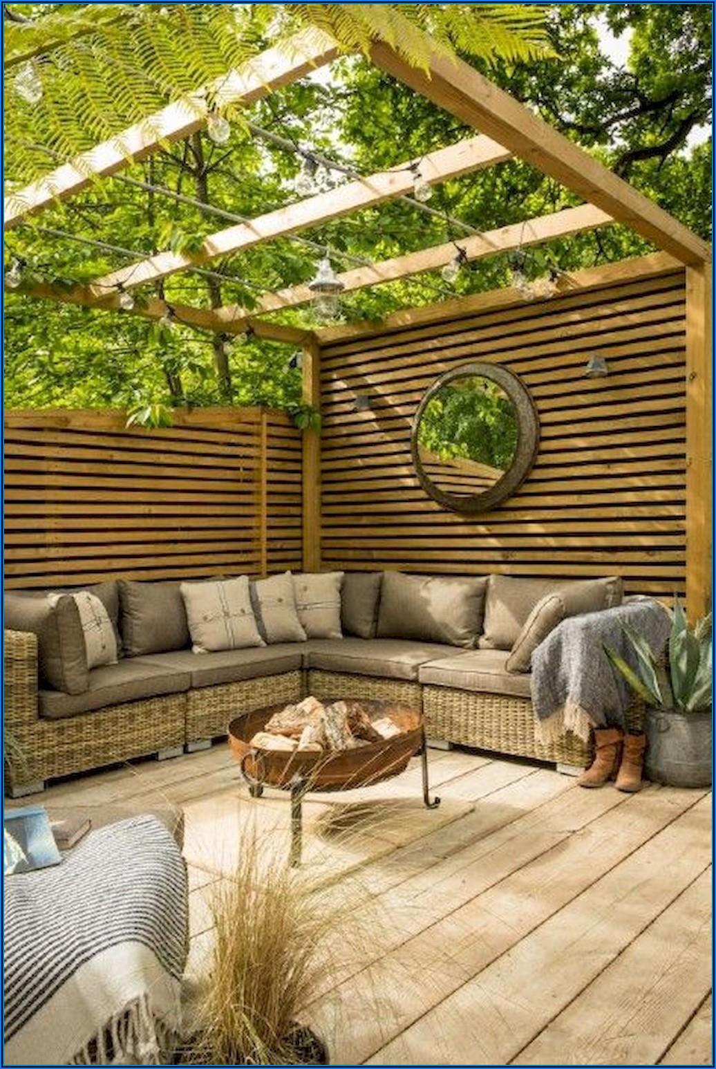 Große Terrasse Kleiner Garten
