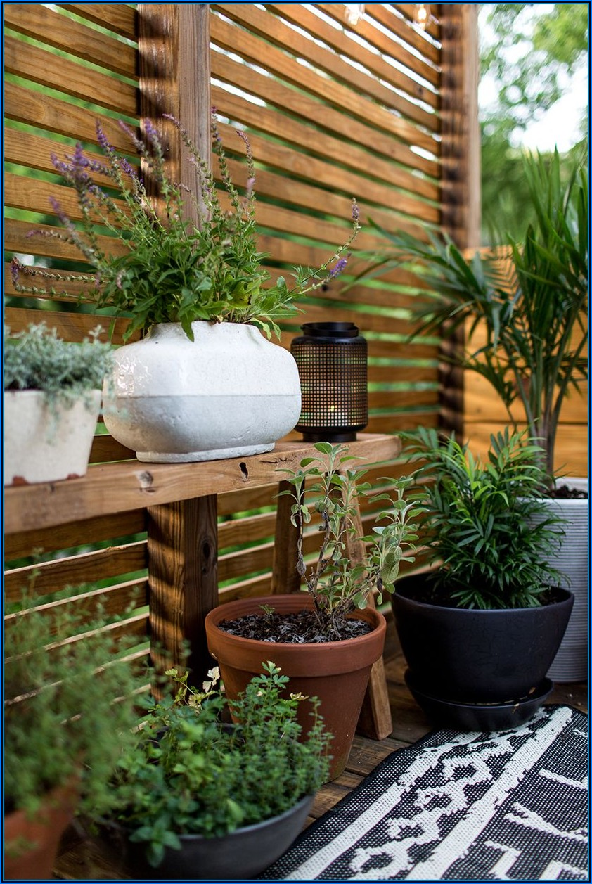 Kleine Terrasse Mit Sichtschutz