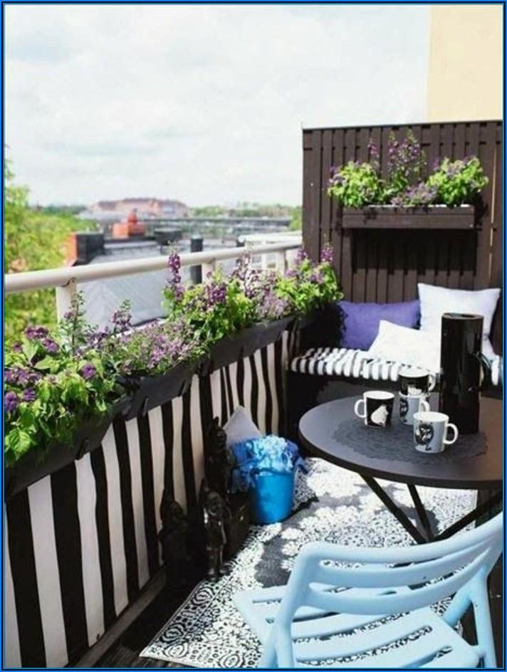 Kleine Terrasse Sichtschutz