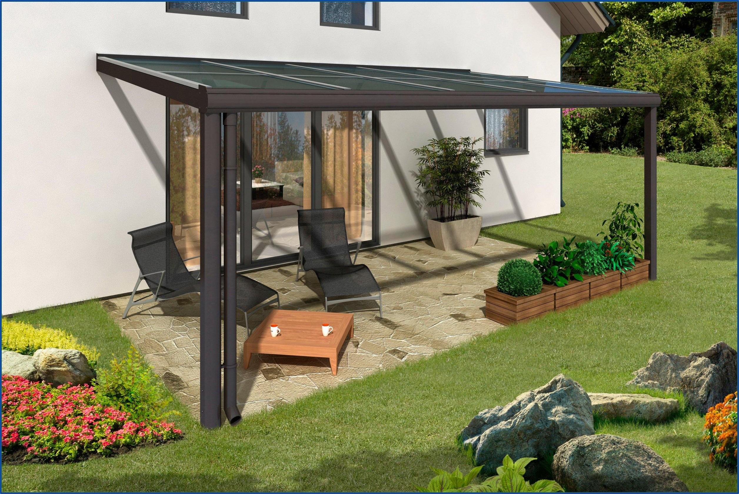 Kleiner Garten Terrassendach