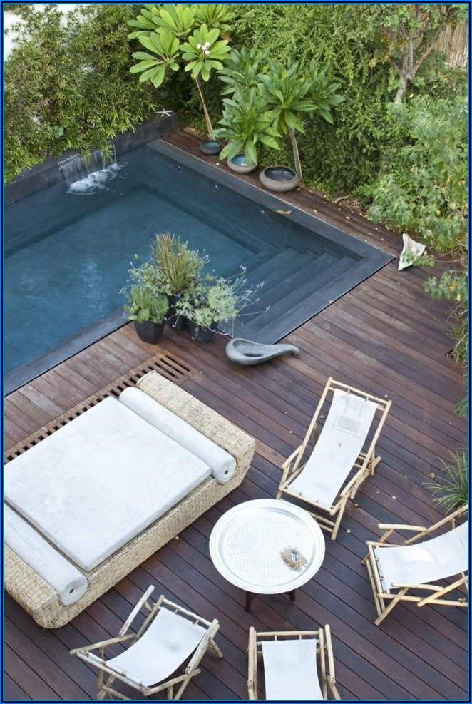 Kleiner Pool Terrasse