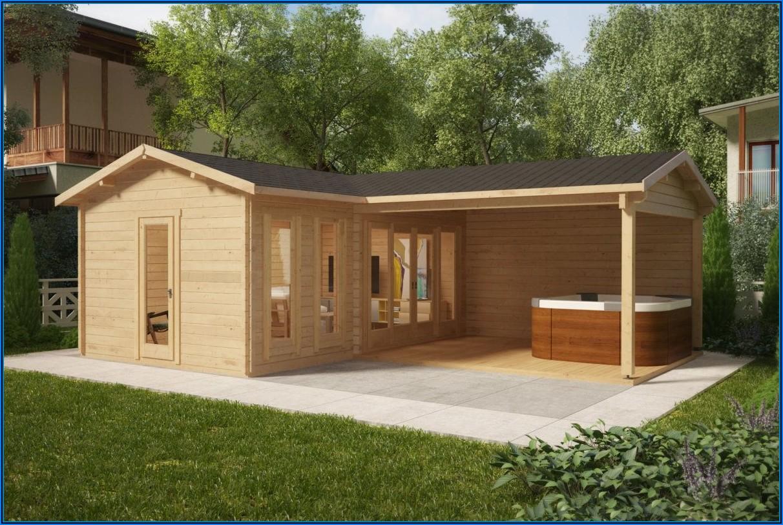 Kleines Gartenhaus Mit Großer Terrasse