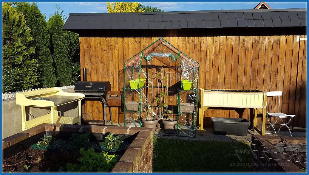 Kleines Gewächshaus Terrasse