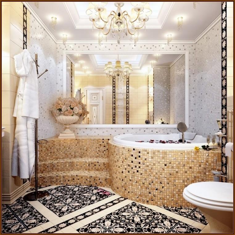Mosaik Fliesen Ideen Badezimmer