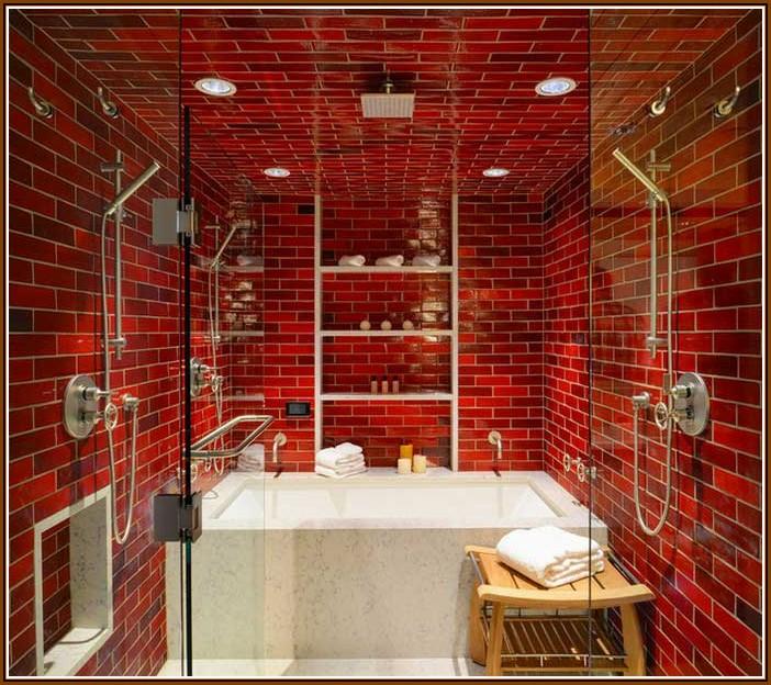Rote Badezimmer Deko Ideen