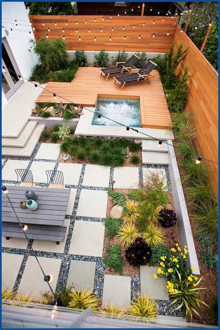 Terrasse Mit Kleinem Garten Gestalten