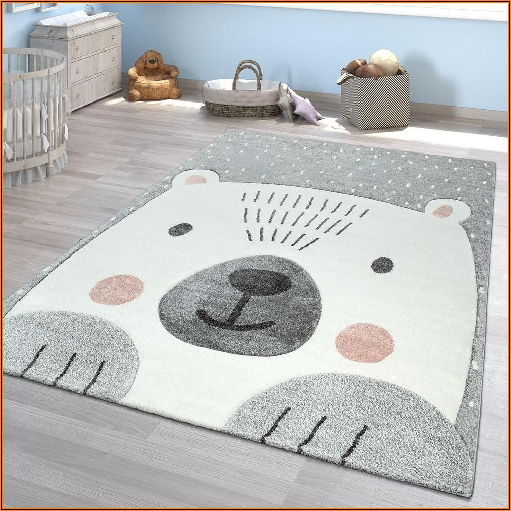Kinderzimmer Teppich Rund Mädchen
