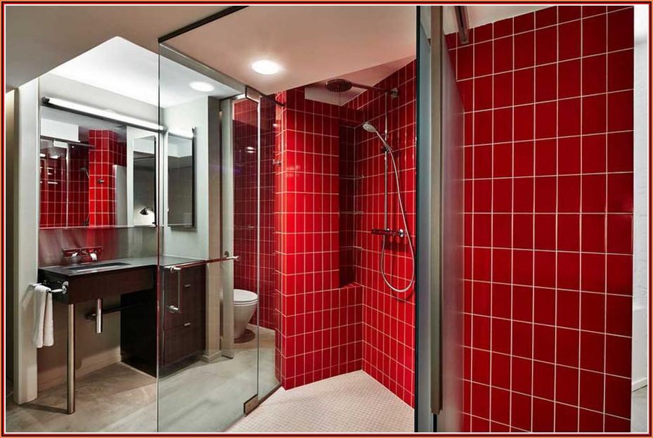 Rote Badezimmer Deko