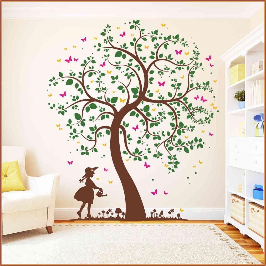 Wandtattoo Kinderzimmer Mädchen Schmetterlinge