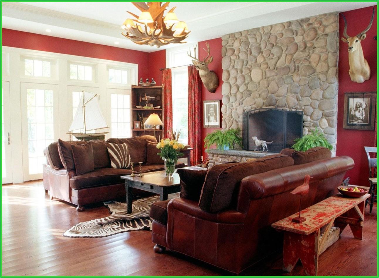 Wohnzimmer Ideen Rote Wand