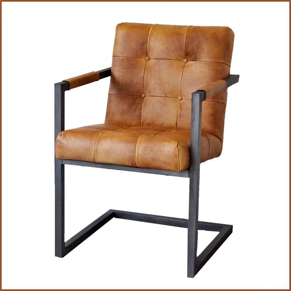 Esszimmer Stühle Leder Cognac