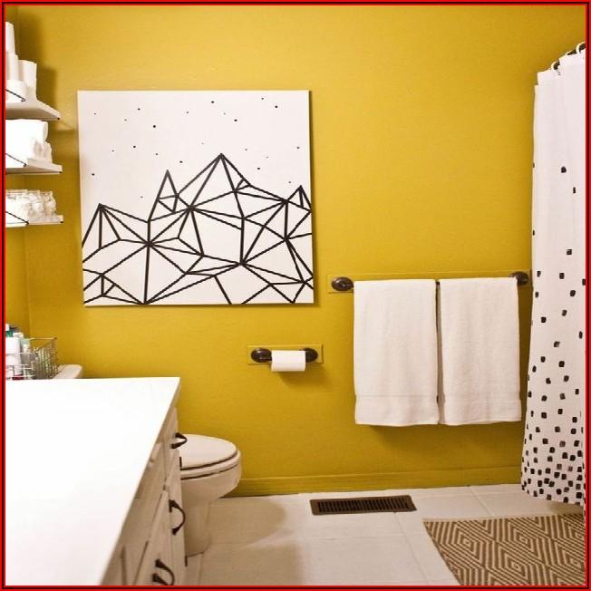Gelbes Badezimmer Dekorieren