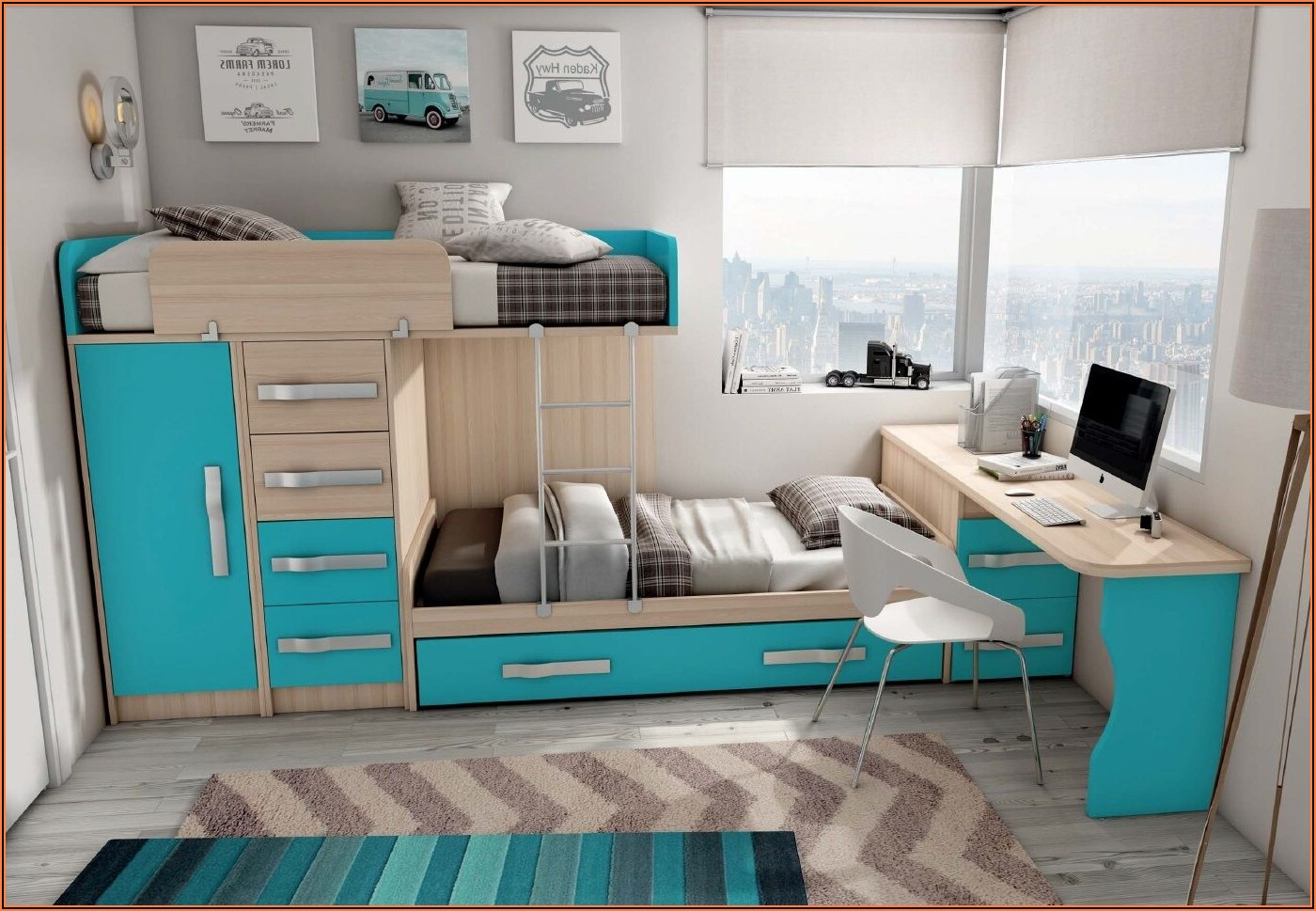 Kinderzimmer Komplett Mit Doppelbett