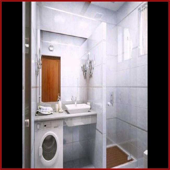 Kleines Bad Mit Dusche Und Waschmaschine