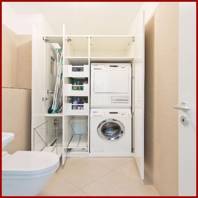 Kleines Bad Mit Waschmaschine Und Trockner Einrichten