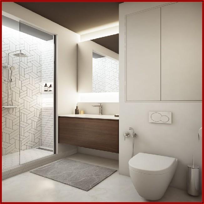 Kleines Badezimmer Grau
