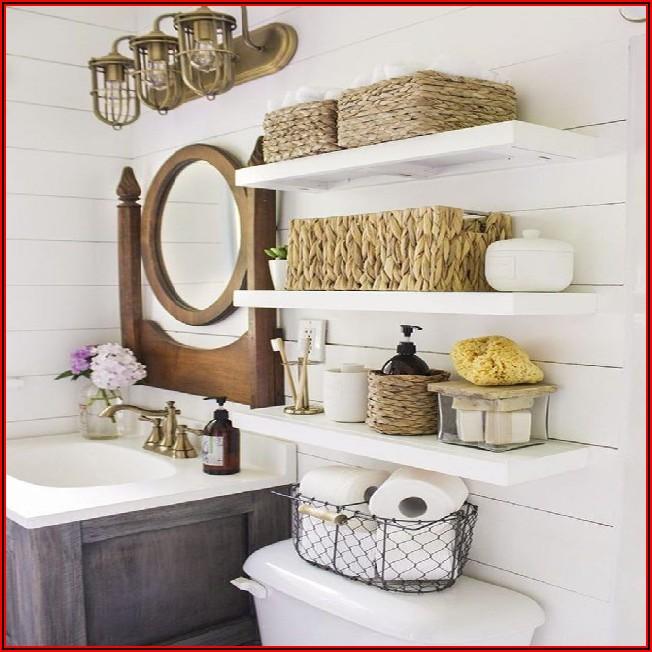 Kleines Badezimmer Regal