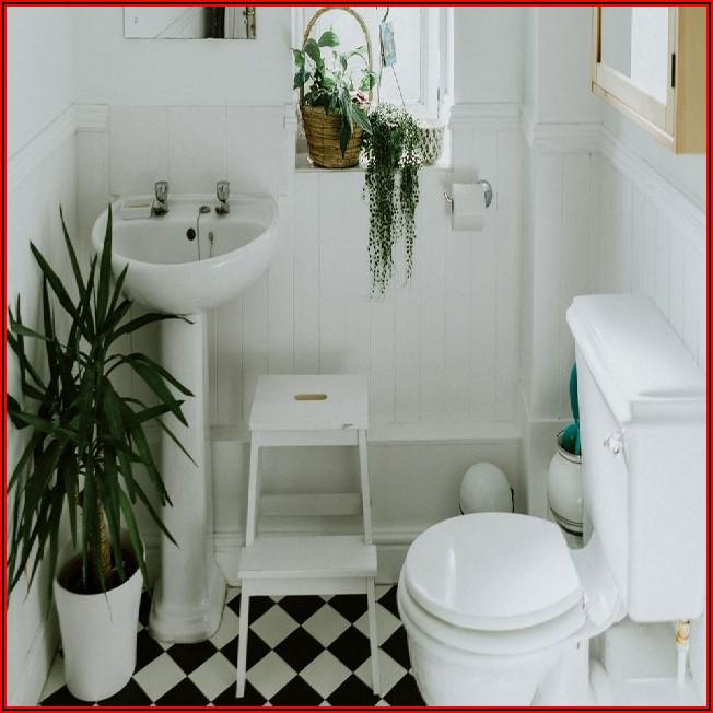 Kleines Weißes Bad Dekorieren
