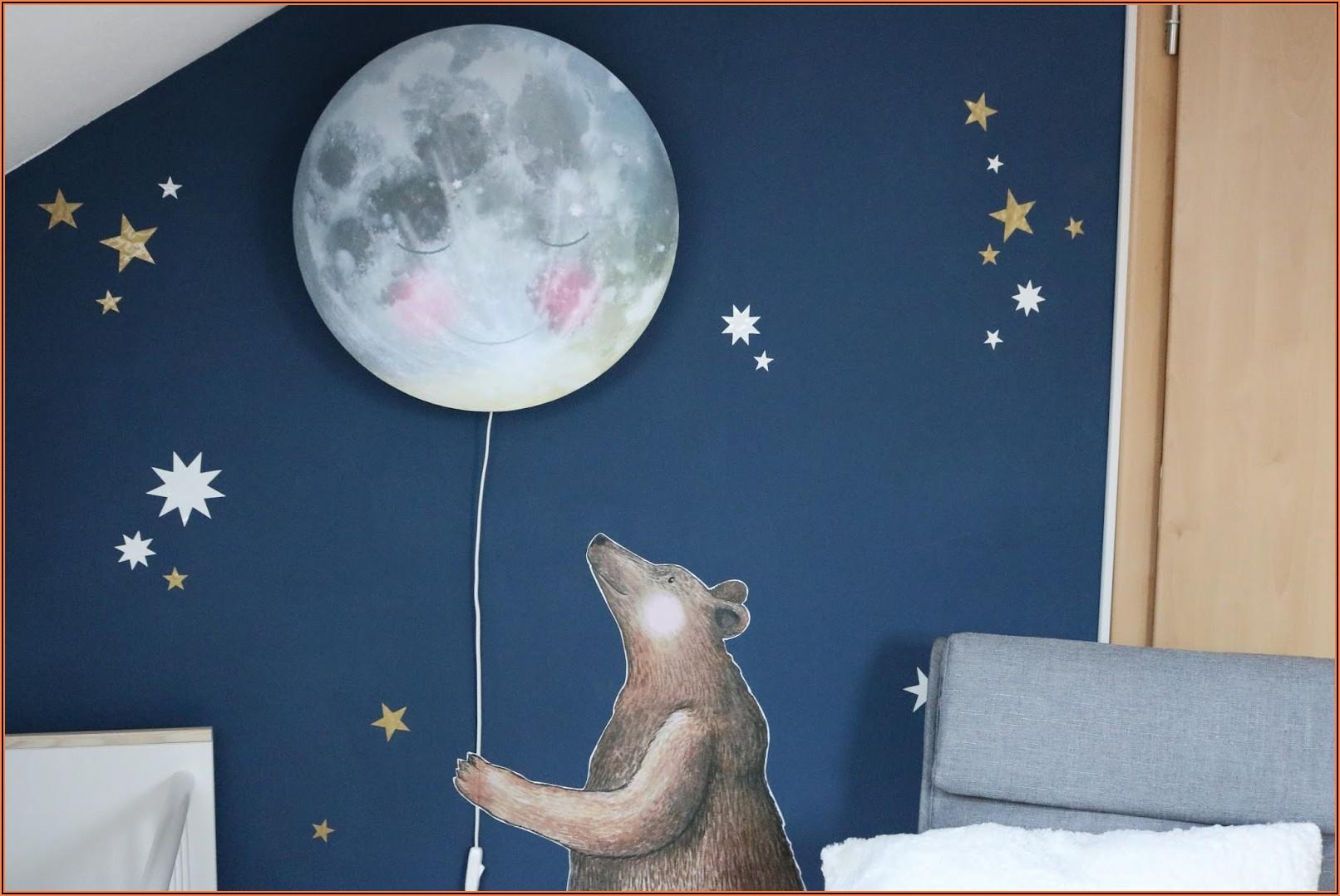 Schlafender Mond Lampe Kinderzimmer