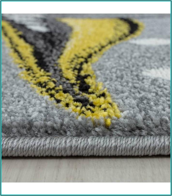 Teppich Kinderzimmer Grau Gelb