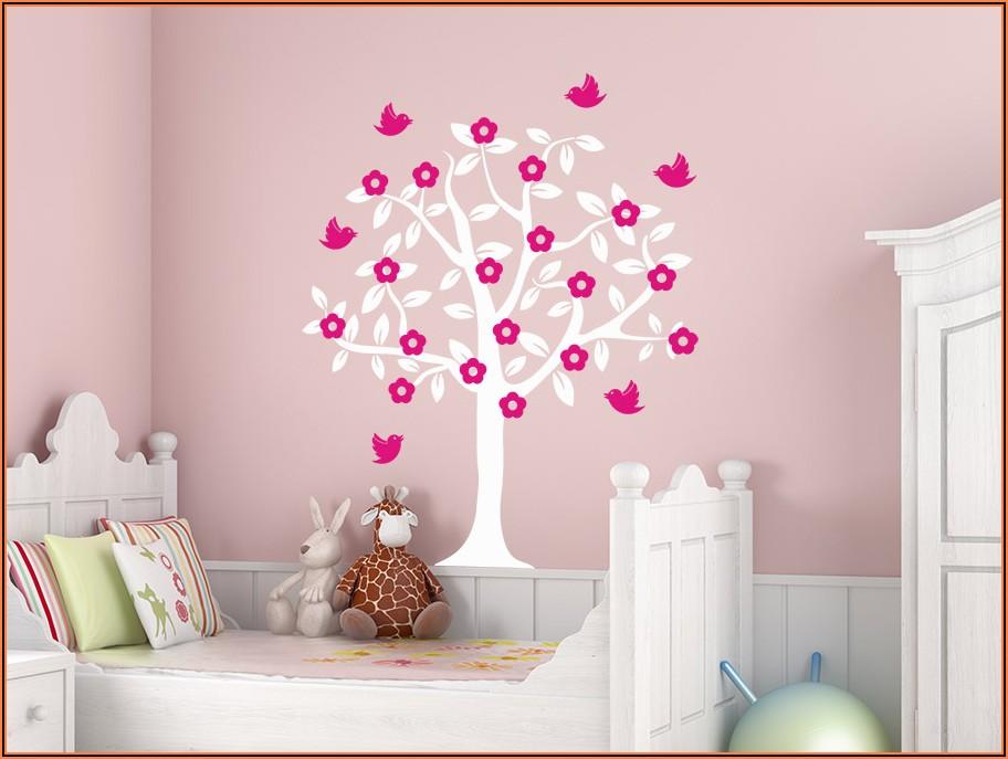 Wandtattoo Baum Kinderzimmer Mädchen