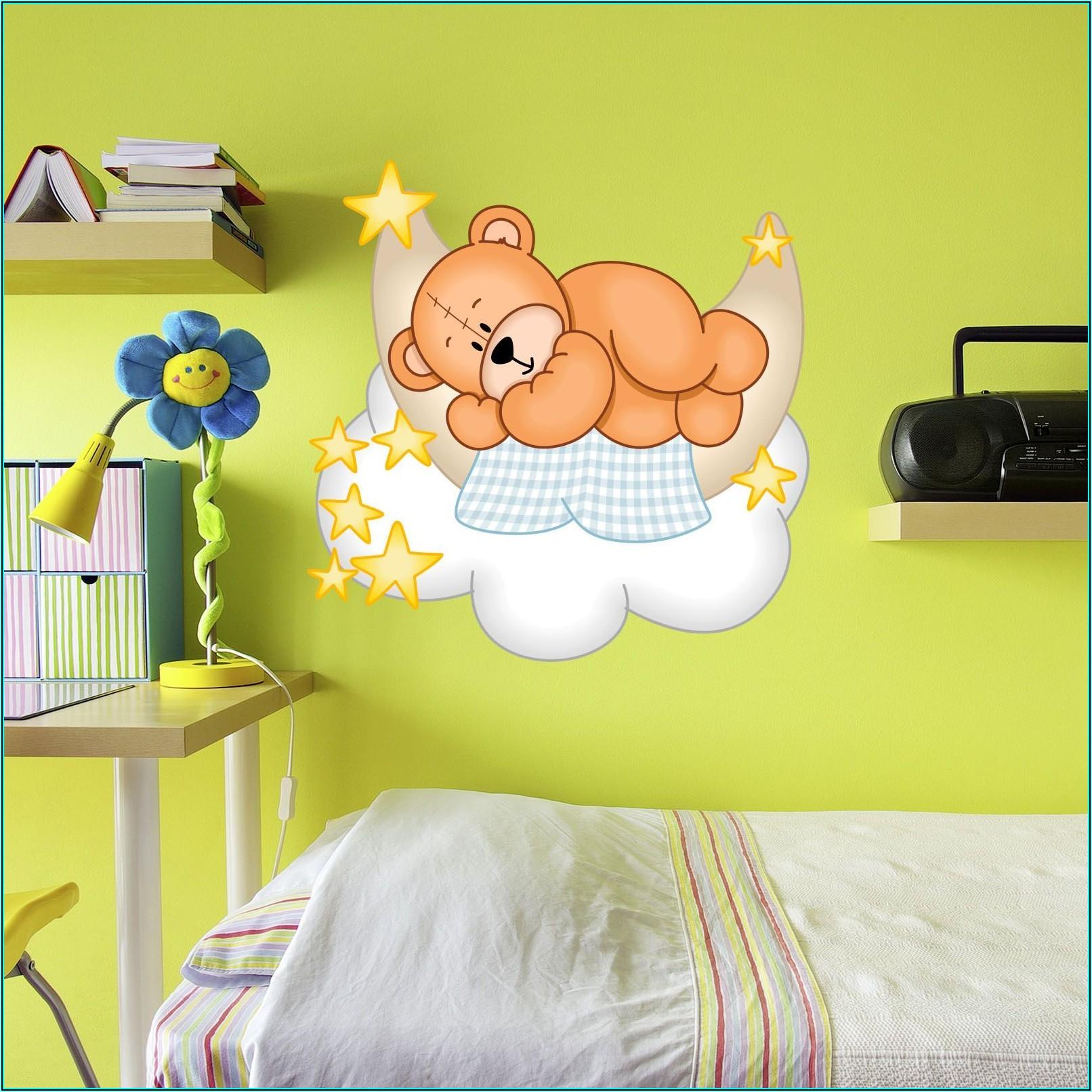Wandtattoo Kinderzimmer Teddy